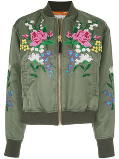 cross stitch bomber jacket  Muveil