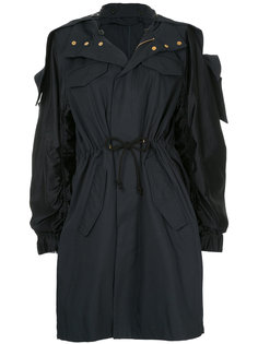 lily of the valley appliqué parka  Muveil