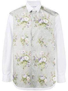 рубашка с цветочной вышивкой Comme Des Garçons Homme Plus