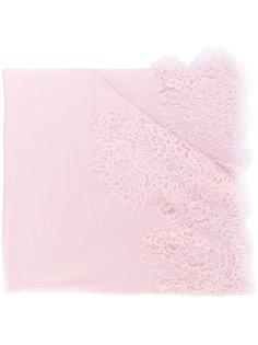шарф с кружевной аппликацией Ermanno Scervino
