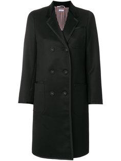 двубортное пальто миди  Thom Browne