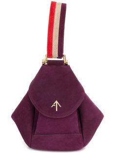 сумка-хобо на полосатой лямке Manu Atelier