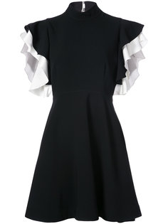 contrast frill tirm dress Cinq A Sept