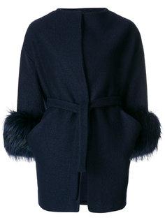 fur cuffs coat  Ava Adore