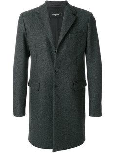 однобортное пальто Dsquared2