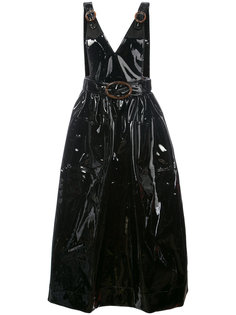 buckle strap V-neck dress Growing Pains