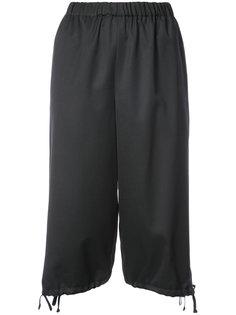 elastic waist cropped pants  Comme Des Garçons Girl