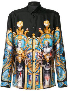 рубашка с принтом Triptych  Versace