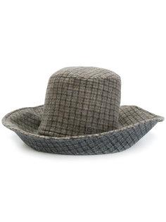 checked hat  Maison Michel