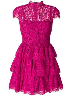 кружевное платье с оборками Alice+Olivia