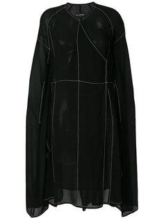 полупрозрачное платье со строчкой Ivan Grundahl