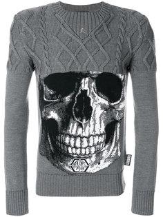 свитер с принтом черепа Philipp Plein