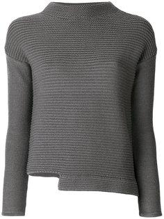 асимметричный свитер с высоким круглым вырезом  Eleventy