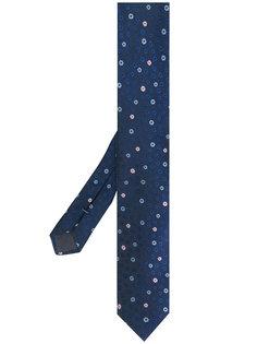 галстук с цветочной вышивкой Boss Hugo Boss