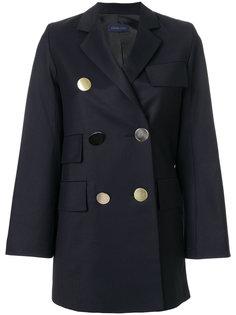пальто с контрастными пуговицами  Eudon Choi