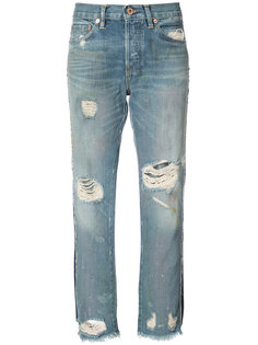 distressed cropped jeans NSF