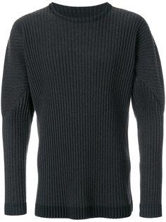 свитер с круглым вырезом в рубчик  Homme Plissé Issey Miyake