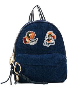маленький джинсовый рюкзак с нашивками See By Chloé