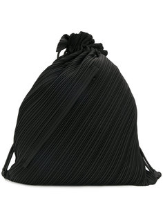pleated drawstring backpack Pleats Please By Issey Miyake