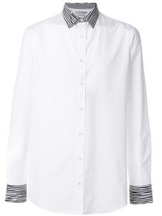 рубашка с отделкой в полоску Alexander McQueen