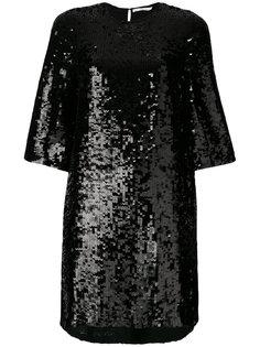 короткое платье шифт с пайетками Amen Amen.