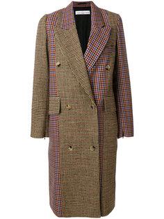 пальто в клетку колор блок  Golden Goose Deluxe Brand