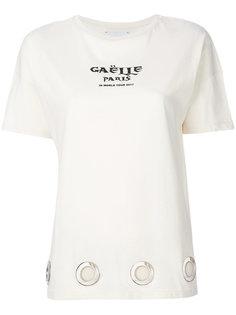 футболка с короткими рукавами и люверсами  Gaelle Bonheur