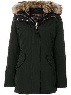 дутое пальто с капюшоном  Woolrich