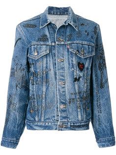 джинсовая куртка с принтом  R13