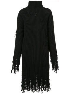 distressed turtleneck dress Yang Li