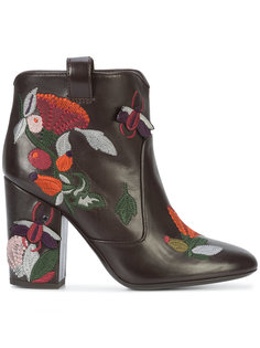 floral embroidered boots Laurence Dacade