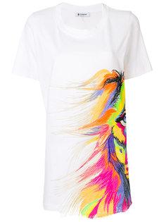 футболка с короткими рукавами и принтом  Dondup