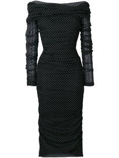 вечернее платье в горох  Dolce & Gabbana