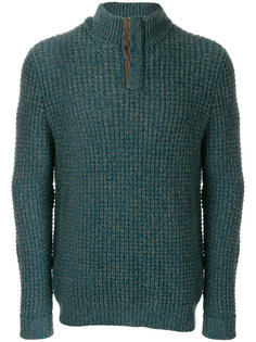 waffle collared cashmere jumper N.Peal