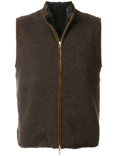 reversible cashmere gilet N.Peal
