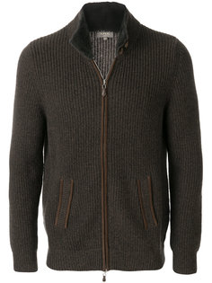 collar ribbed cashmere cardigan N.Peal