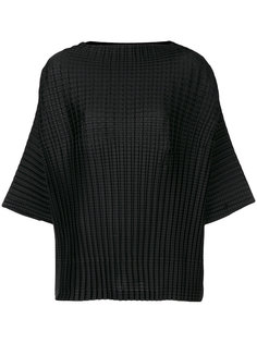 textured boxy top Pleats Please By Issey Miyake