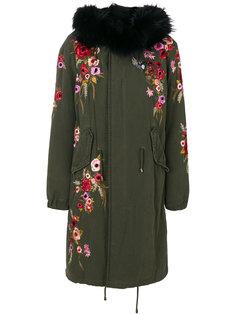 пальто-парка с цветочной вышивкой  Amen Amen.