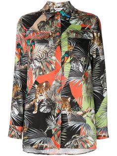 свободная рубашка с тропическим принтом  Blugirl