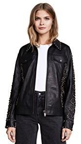 Scotch & Soda/Maison Scotch Studded Leather Jacket