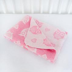 Одеяло байковое Совы 85х115, Baby Nice, розовый