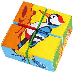 """Кубики """"Собери картинку - птицы"""", Мякиши"""