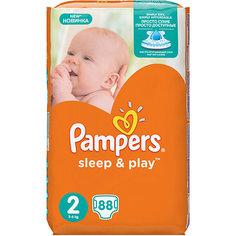 Подгузники Pampers Sleep & Play, 3-6 кг, 2 размер, 88 шт., Pampers
