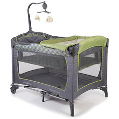 Манеж-кровать Trend, Baby Trend, серый/зеленый