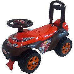 """Машинка-каталка """"Автошка"""" с музыкальным рулем, коричнево-красная, Doloni"""