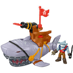 Набор Капитан Немо и скат Mega Mouth Shark, Fisher Price, Imaginext Mattel