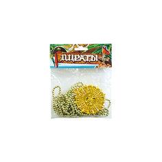 AB Пиратский медальон на цепочке золото 4шт