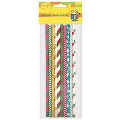 BA Трубочки бумажные Праздничные ассорти 10шт Патибум