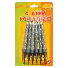 MCСвечи Серебряные с держателями 12шт 6см Патибум
