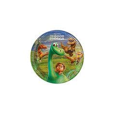 Pc 23см Тарелки бумажные ламинированные Хороший Динозавр 8шт Procos